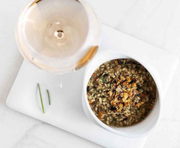 Creamy rice thickened with its salsa verde – BOJ Recipe by Aingeru